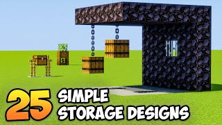 25 Simple and Creative Storage Designs in Minecraft 1.16 (Building Tips & Tricks)