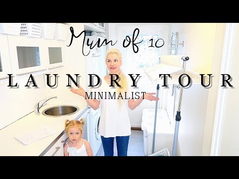 MINIMALIST LAUNDRY TOUR / MOM OF 10