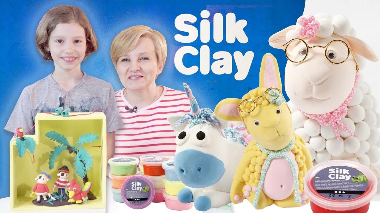 DIY Kit - Silk & Foam Clay, Magiczne zestawy z różnymi postaciami