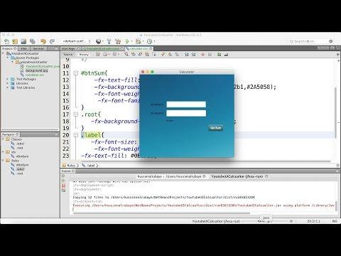 55-  JavaFX      add css to calculator-   تلوين الحاسبة