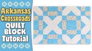 Quilting Blocks: Arkansas Crossroads Quilt Block Tutorial In this quilting tutorial, we show you how to make the Arkansas Crossroads quilt block. --FULL WRITTEN INSTRUCTIONS--http://www.alandacraft.com/quilt-blocks-arkansas-crossroads-quilt-block-tutorial---WATCH MORE QUILT BLOCK TUTORIALS HERE---https://www.youtube.com/playlist?list=PLMxvvtt3Z3CKZx04rEe8Vod1SP1EX767l---FOLLOW US ON---Website: http://www.alandacraft.comFacebook: http://www.facebook.com/alandacraftPinterest: http://www.pinterest.com/alandacraft/Instagram: http://instagram.com/alandacraftTwitter: http://twitter.com/AlandaCraftTumblr: http://www.tumblr.com/blog/alandacraft