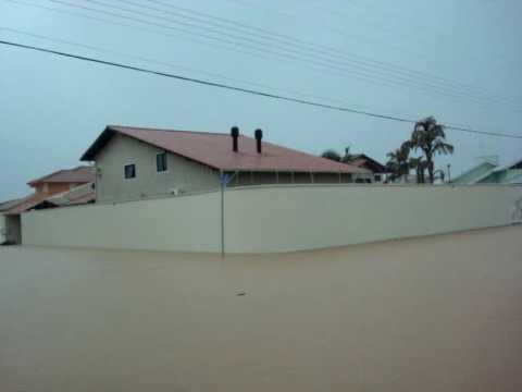 Enchente em Palhoça