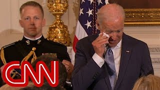Joe Biden arrived for a going-away event at the White House where President Obama surprised him by awarding Biden the Medal of Freedom.