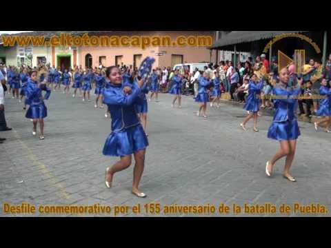 Desfile conmemorativo por el 155 aniversario de la batalla de Puebla.