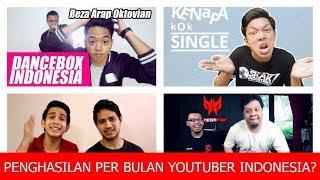 Video Berapa Penghasilan Youtuber Terkenal? (Bayu Skak, Reza Oktovian, Tara Arts, Skinnyindonesian24) MP3, 3GP, MP4, WEBM, AVI, FLV November 2018
