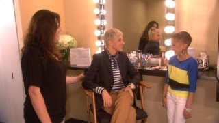 Exclusive! Ellen and Talia Talk Backstage