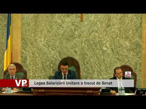 Legea Salarizării Unitare a trecut de Senat