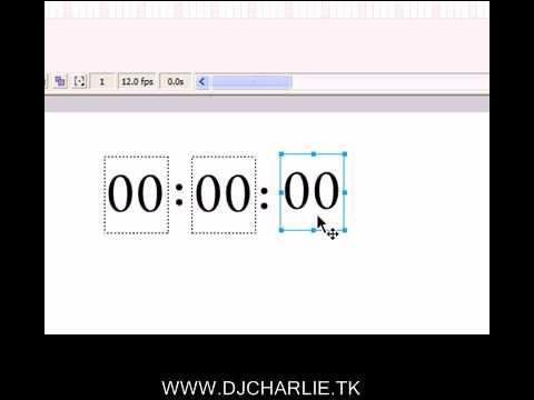 Reloj Digital en Flash