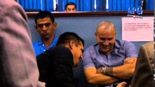 Miguel Montes junto a otros jugadores se presentan a juzgado.