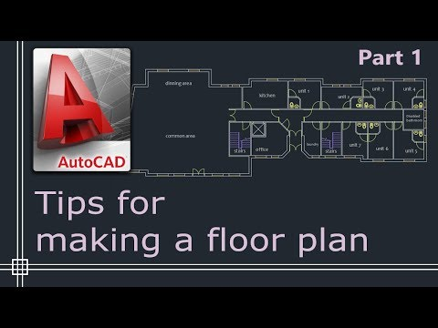 Autocad 2019 - Tutorial For Beginners (tips Do Draw A Floor Plan) - Part 1