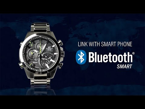 CASIO EDIFICE Bluetooth® SMART enabled EQB-500 product video (видео)