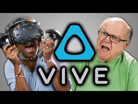 YouTube video: Elders react to HTC Vive