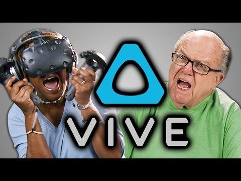 YouTube video: Elders react to HTC Vive