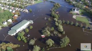 Sydney (NS) Canada  city images : Sydney Nova Scotia flooding - Helicopter view