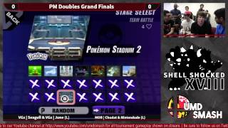 Chudat & Nintendude(Red) vs Seagull & Junebug(Blue) PM Doubles GF. Double Diddy vs. Double Ice Climbers.