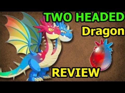 TWO HEADED DRAGON Dragon City Egg and Level Up 7 Deus Vault Formula