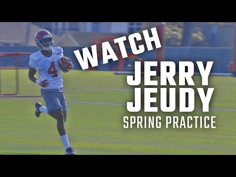 Five-star Wide Receiver Jerry Jeudy's Second Practice with the Alabama Crimson Tide