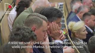 O lubieżnych scenach w teatrach, misji Polaków i krwi Chrystusa w walce z UE na konferencji o. Rydzyka