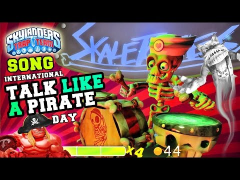 mini - Skylanders celebrate INTERNATIONAL TALK LIKE A PIRATE DAY! Enjoy this Skylanders Trap Team Mini-Game song presented by the truest pirate in Skylands, Dark Wash Buckler, well, really we should...