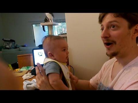 """Tata je rekao tromjesečnoj bebi """"volim te"""", a pogledajte šta mu je ona na to ODGOVORILA!"""