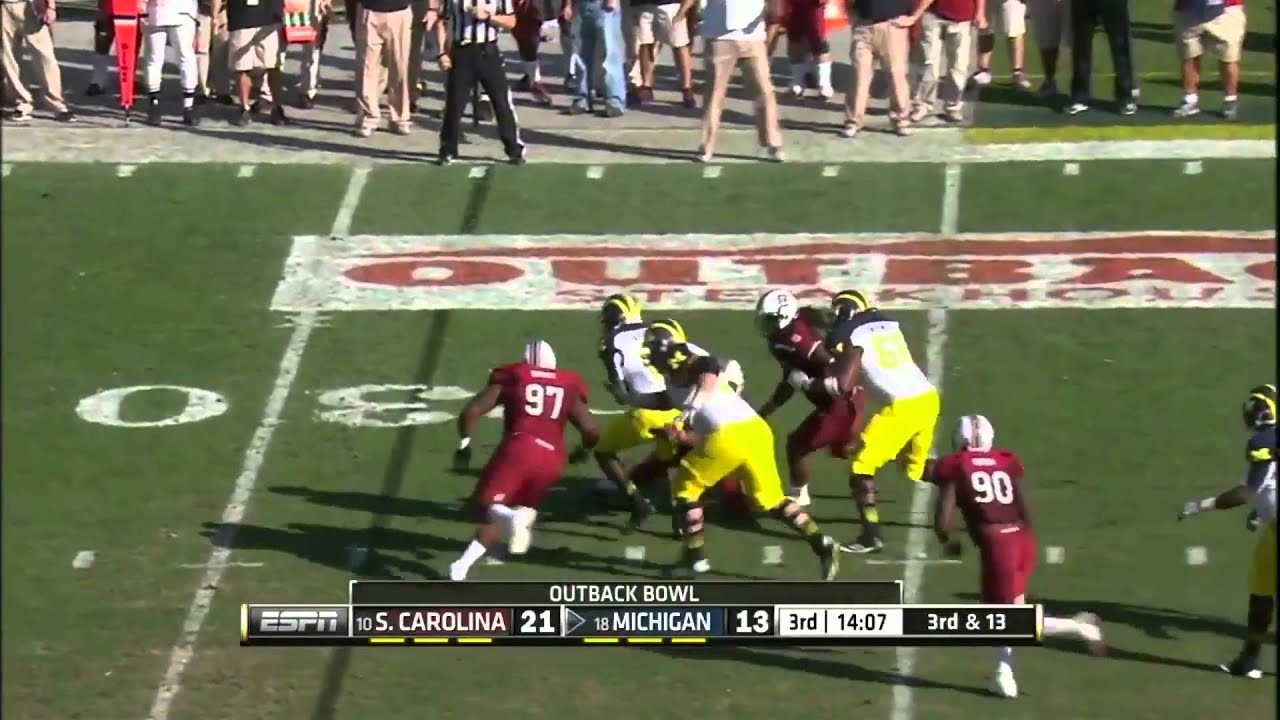 Devin Gardner vs South Carolina (2012 Bowl)