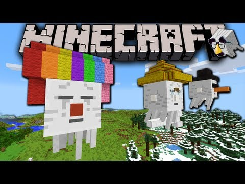 Minecraft 1.6: Fancy Ghasts! Ghoulish Ghost Decorations