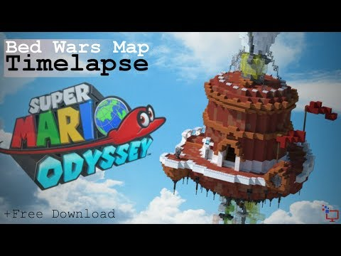 Super Mario Odyssey |BedWarsMap | Minecraft Timelapse | +Free Download