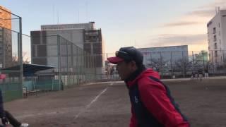 2017/02/19 睦クラブ 6年生 卒団記念 監督&コーチ 最後の鬼ノック