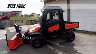6. Kubota RTV front mount snowblower Review - RTV-X1100