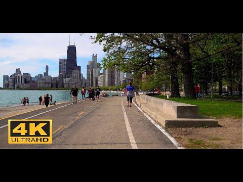   4K    Walking Chicago LakeFront Trail