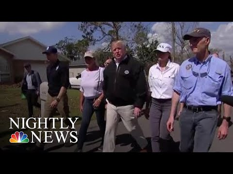 President Donald Trump Visits Florida Towns Destroyed By Hurricane Michael   NBC Nightly News