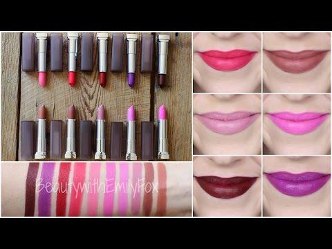 NEW Maybelline Creamy Matte Lipstick Shades + Lip Swatches 2015