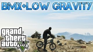 Grand Theft Auto V | BMX & MOON GRAVITY | I BELIEVE I CAN FLY!!