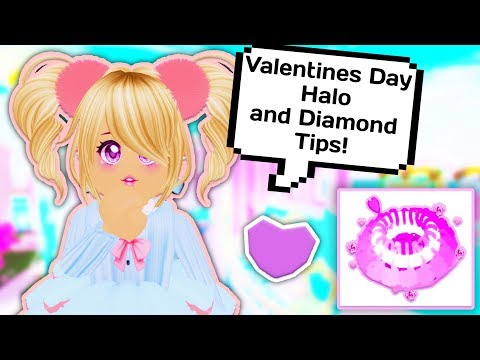 NEW VALENTINES DAY HALO AND DIAMOND TIPS // Roblox Royale High School