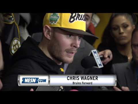 Video: Chris Wagner reacts to Bruins' win over Sabres