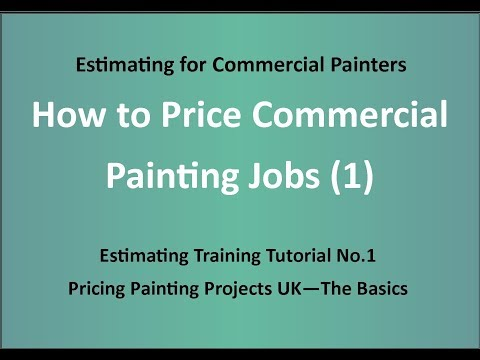 Estimating Training for Painters - How to Price Painting Jobs (1) - The Basics