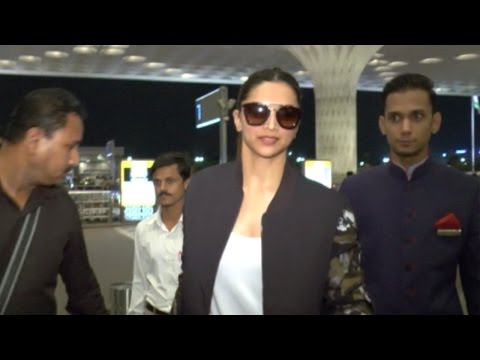 Deepika Padukone And Other Celebs Spotted At Airpo