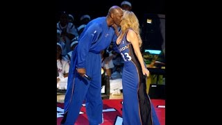 Mariah Carey Performes Hero, MJ (Age 39) Almost Cries @ 2003 All-Star Half-Time Break