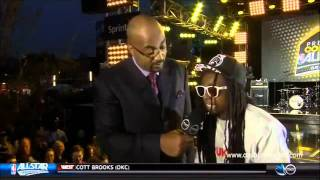 Lil Wayne High as Hell During a Interview At All-Star Game!