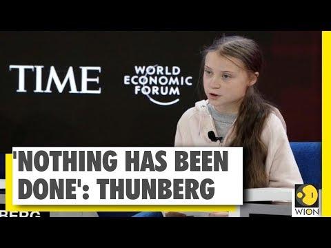 Climate activist Greta Thunberg's message at Davos forum