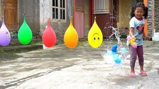 KEYSHA Bernyanyi FINGER FAMILY SONG Belajar Warna Dengan Balon & Meletuskanya