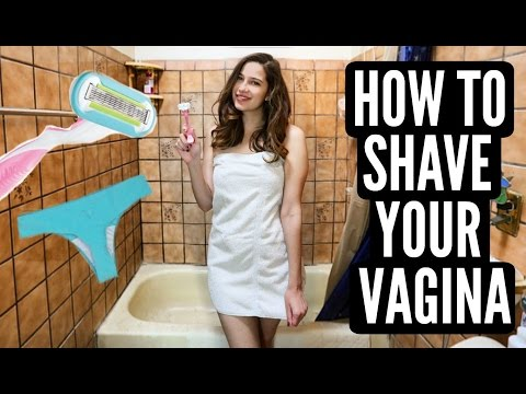HOW TO SHAVE YOUR VAGINA!!! + DEMO!
