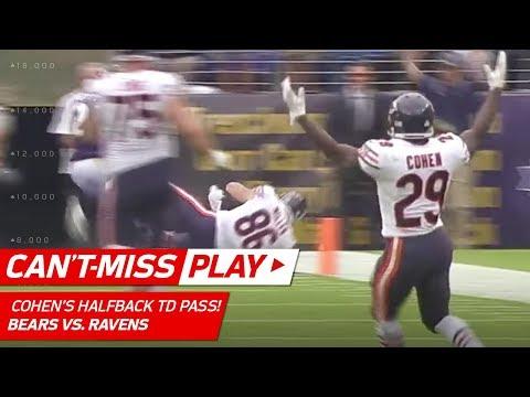 Video: Tarik Cohen's Crazy Halfback Pass TD to Zach Miller!  