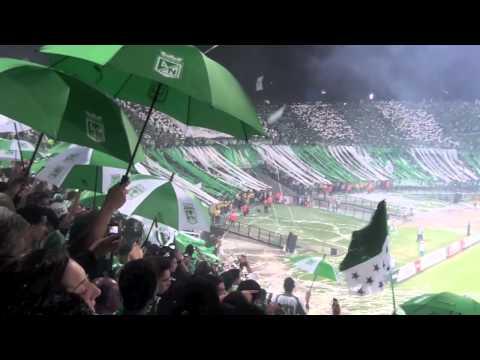 Salida Los Del Sur y Pasion Verde Nacional 2 - 0 Universidad De Chile Copa Libertadores 2012 - Los del Sur - Atlético Nacional