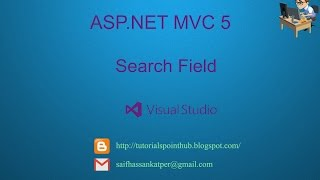 ASP.Net MVC5 - Search field - SQL-Server - Visual Studio 201
