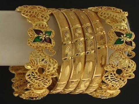 Video Traditional gold and diamond kada bangles || machine cut broad kada bangles designs download in MP3, 3GP, MP4, WEBM, AVI, FLV January 2017