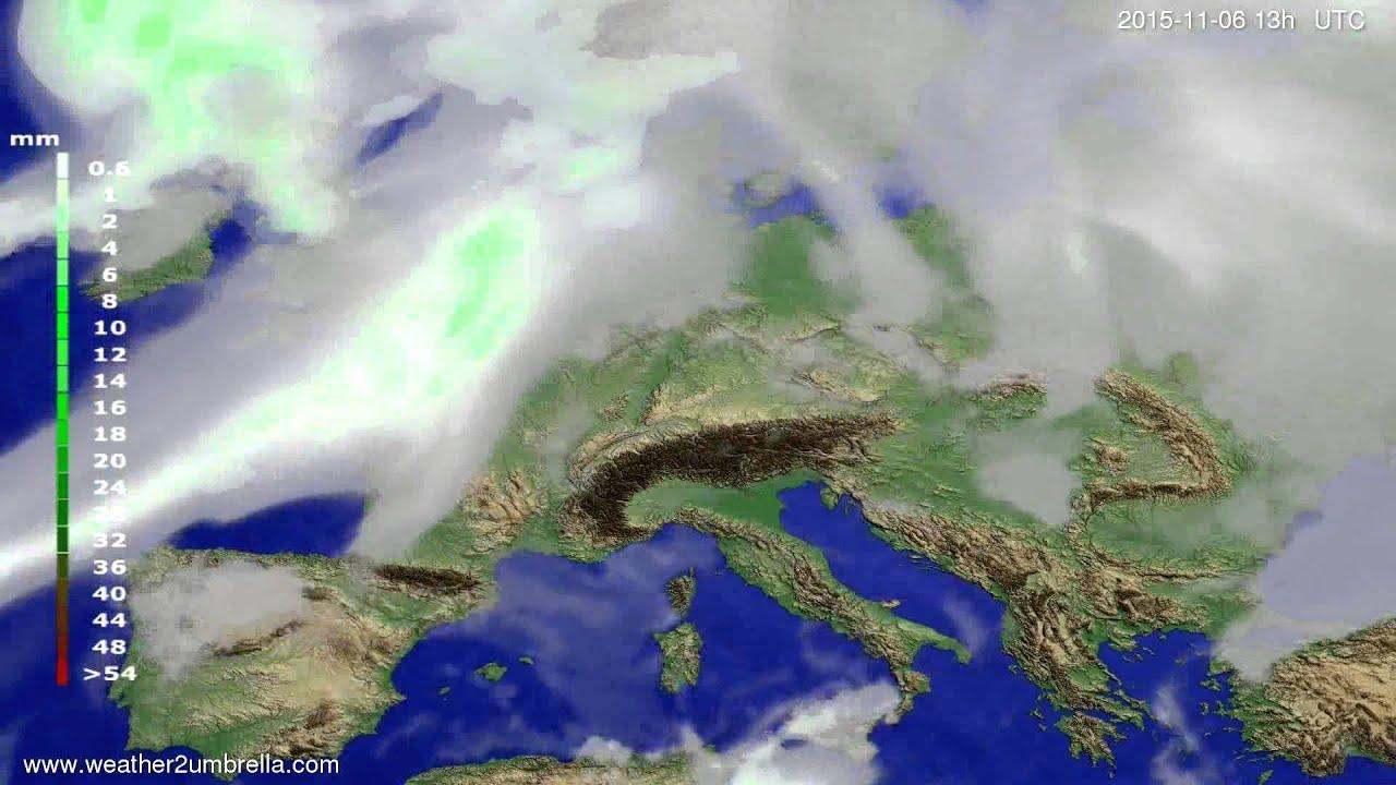Precipitation forecast Europe 2015-11-03