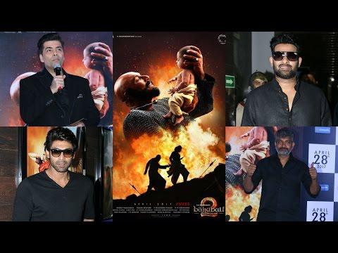 UNCUT- Karan Johar & Prabhas Trailer Launch Of Film Bahubali 2