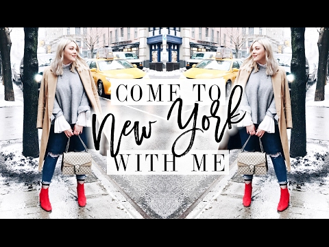 COME TO NEW YORK WITH ME! | WHAT I WORE AT FASHION WEEK | I Covet Thee | AD видео