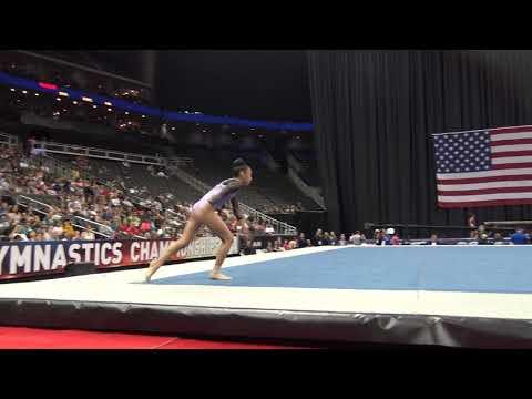 Kailin Chio– Floor Exercise – 2019 U.S. Gymnastics Championships – Junior Women Day 1